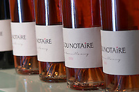 rose bottles mas du notaire rhone france