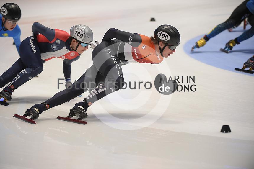 SPEEDSKATING: DORDRECHT: 06-03-2021, ISU World Short Track Speedskating Championships, SF 5000m Men, Jens van 't Wout (NED), ©photo Martin de Jong