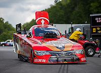 Jun 17, 2017; Bristol, TN, USA; NHRA funny car driver Jonnie Lindberg during qualifying for the Thunder Valley Nationals at Bristol Dragway. Mandatory Credit: Mark J. Rebilas-USA TODAY Sports