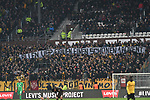 01.12.2018,  GER; 2. FBL, FC St. Pauli vs SG Dynamo Dresden ,DFL REGULATIONS PROHIBIT ANY USE OF PHOTOGRAPHS AS IMAGE SEQUENCES AND/OR QUASI-VIDEO, im Bild Feature die Dresdner Fans zeigen Plakate, die die Stimmung anheizen Foto © nordphoto / Witke