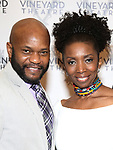 Forrest McClendon and Sharon Washington attends the Vineyard Theatre Gala honoring Colman Domingo at the Edison Ballroom on May 06, 2019 in New York City.