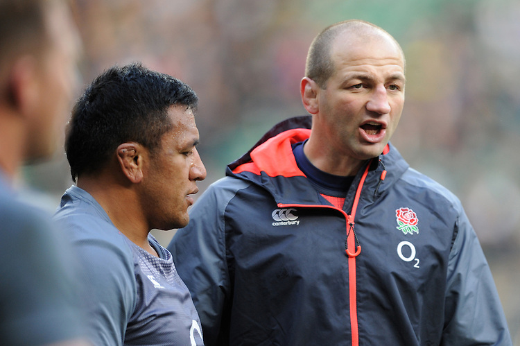Steve Borthwick, England Forwards Coach, before the Old Mutual Wealth Series match between England and Argentina at Twickenham Stadium on Saturday 26th November 2016 (Photo by Rob Munro)
