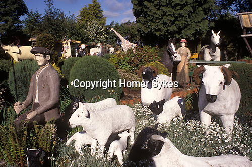 Branxton, Northumberland. 1980's<br /> Baa Baa Black Sheep, have you any wool…   And one for the little boy, who lives down the lane. The Cement Menagerie was created by Outsider artist John Fairnington (1883-1981) and not started until he was in 80 years of age. The 300 concrete sculptures were created for the amusement his disabled son Edwin Fairnington.