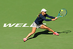 March 9, 2019: Yulia Putintseva (KAZ) hits a backhand in a match where she was defeated by Angelique Kerber (GER) 6-0, 6-2 at the BNP Paribas Open at the Indian Wells Tennis Garden in Indian Wells, California. ©Mal Taam/TennisClix/CSM