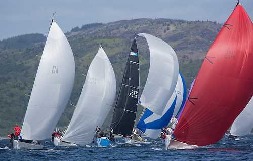 Racing on Loch Fyne at a previous edition of the Scottish Series