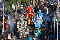 Nice le 19 Fevrier 2107 Place Massena unique sotie du Corso Carnavalesque Parada Nissarda de jour Ambiance
