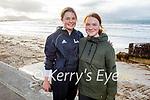 Lily Kaurenger and Sofia Fletcher enjoying a run in Ballyheigue on Sunday.