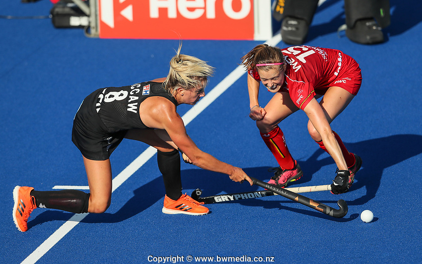 Gemma McCaw during the Pro League Hockey match between the Blacksticks Women and Belgium, National Hockey Arena, Auckland, New Zealand, 1st February 2020. Photo: Simon Watts/www.bwmedia.co.nz