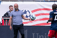 FOXBOROUGH, MA - JULY 4: Clint Peay New England Revolution II II coach during a game between Greenville Triumph SC and New England Revolution II at Gillette Stadium on July 4, 2021 in Foxborough, Massachusetts.