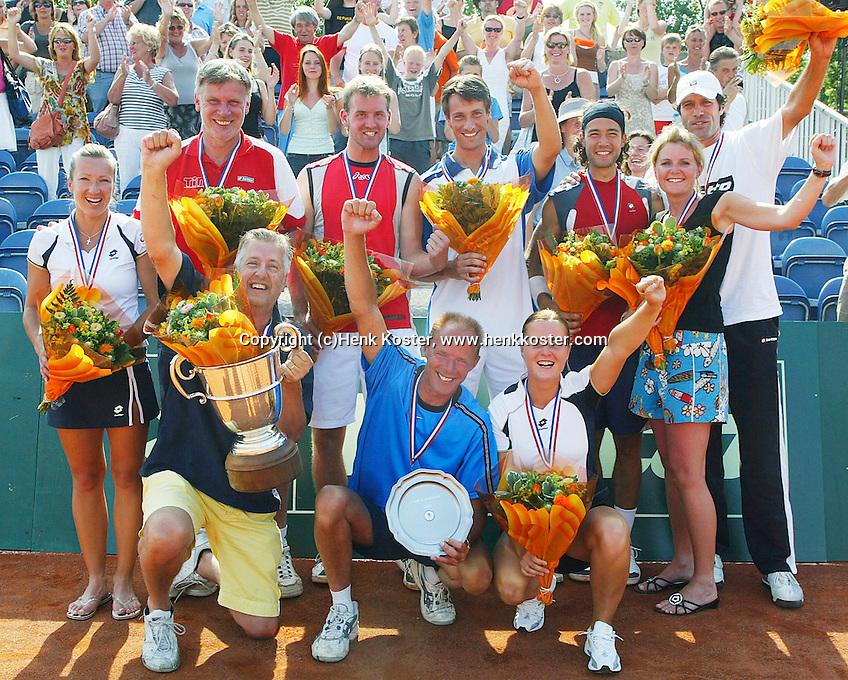 18-6-06,Rotterdam, Playoffs competitie, Team Groenekan wint de tennis Competitie