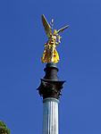 Deutschland, Bayern, Oberbayern, Muenchen: Friedensengel an der Luitpoldbruecke | Germany, Bavaria, Upper Bavaria, Munich: Peace Angel statue