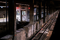 NEW YORK, NY - NOVEMBER 18:  A MTA's train remains park at Gran Central Terminal on November 18, 2020 in New York. MTA is facing a $3 billion deficits that will bring reductions of Subways, trains and buses of 40-50% in service, and layoffs of over 9,000 staff. (Photo by Eduardo MunozAlvarez/VIEWpress)