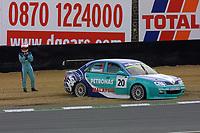 Round 9 of the 2002 British Touring Car Championship. #20 Phil Bennett (GBR). Petronas Syntium Proton. Proton Impian.