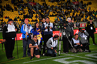 Photographers wait to shoot the trophy presentation after the Mitre 10 Cup Championship final match between Wellington Lions and Northland Taniwha at Westpac Stadium in Wellington, New Zealand on Friday, 27 October 2017. Photo: Dave Lintott / lintottphoto.co.nz