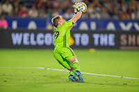 CARSON, CA - SEPTEMBER 15: Tim Melia #29 makes a save to his left during a game between Sporting Kansas City and Los Angeles Galaxy at Dignity Health Sports Park on September 15, 2019 in Carson, California.