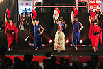 Dancers wearing traditional kimono perform during the Moshi Moshi Nippon Festival 2016 on November 26, 2016 in Tokyo, Japan. Moshi Moshi Nippon Festival 2016 aims to promote Japanese pop culture (fashion, anime, technology, music and food) to the world, and non-Japanese visitors are able to enter the event for free by showing their passport. This year's two day event included live shows by Japanese pop stars Silent Siren, Dempagumi.inc, Tempura Kids, Capsule and Kyary Pamyu Pamyu at the Tokyo Metropolitan Gymnasium. (Photo by Rodrigo Reyes Marin/AFLO)