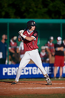 Vance Honeycutt (8) during the WWBA World Championship at Terry Park on October 10, 2020 in Fort Myers, Florida.  Vance Honeycutt, a resident of Salisbury, North Carolina who attends Salisbury High School, is committed to North Carolina.  (Mike Janes/Four Seam Images)