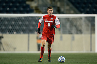 New Mexico Lobos defender Nick Miele (5). The Notre Dame Fighting Irish defeated the New Mexico Lobos 2-0 during the semifinals of the 2013 NCAA division 1 men's soccer College Cup at PPL Park in Chester, PA, on December 13, 2013.