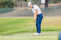 11th September 2020, Napa, California, USA;  Maverick McNealy of the United States putts during the second round of the Safeway Open PGA tournament on September 11, 2020 at Silverado Country Club in Napa, CA.