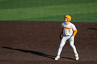 Tennessee Volunteers third baseman Jake Rucker (7) in action against the Arkansas Razorbacks on May 14, 2021, on Robert M. Lindsay Field at Lindsey Nelson Stadium in Knoxville, Tennessee. (Danny Parker/Four Seam Images)