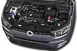 Car Stock 2015 Ssangyong Tivoli Quartz 5 Door Suv Engine high angle detail view
