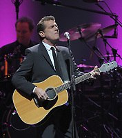 SUNRISE, FL - JANUARY 26: Glenn Frey of The Eagles perform live on the Long Road Out Of Eden Tour at the Bank Atlantic Center on January 26, 2009 in Sunrise Florida.<br /> <br /> <br /> People:  Glenn Frey