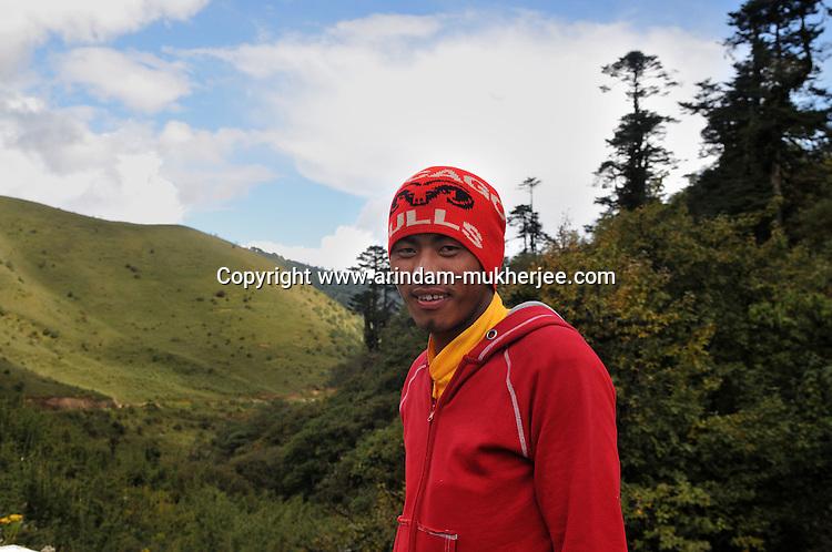 A Bhutanese lama at Dochula. Arindam Mukherjee..