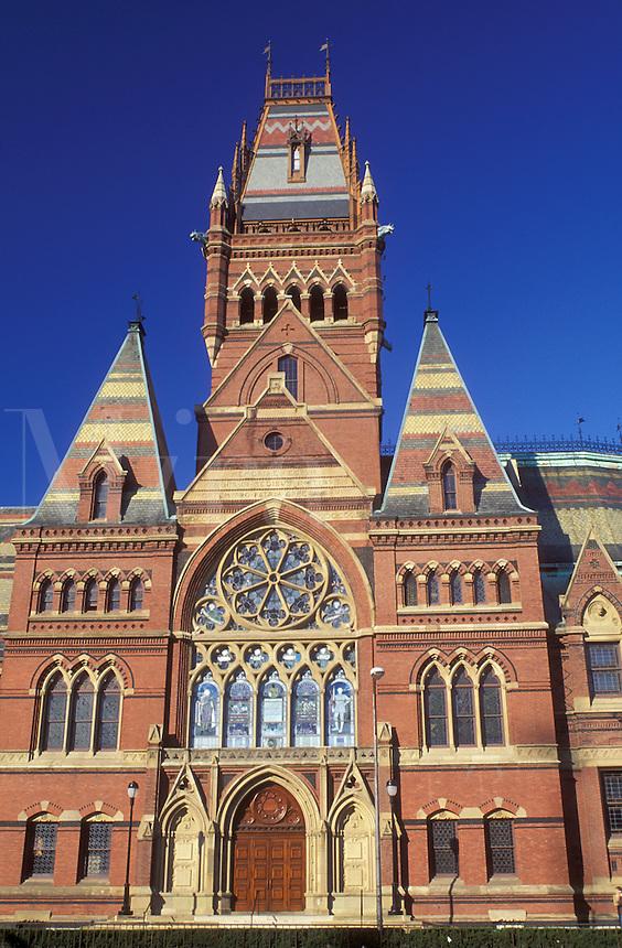 Harvard, university, Cambridge, MA, Massachusetts, Memorial Hall on the campus of Harvard University in Cambridge