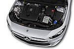 Car stock 2019 Mercedes Benz A Class Progressive 5 Door Hatchback engine high angle detail view
