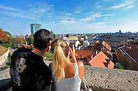 KROATIEN, 09.2012, Zagreb. Panoramaaussicht ueber das Zentrum. |Panoramic view of the city skyline. © Oliver Bunic/EST&OST