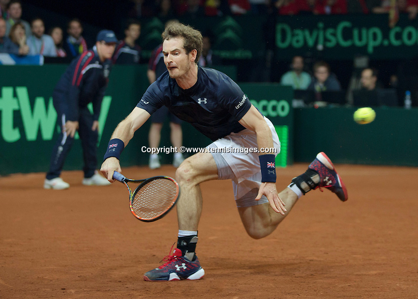 Gent, Belgium, November 29, 2015, Davis Cup Final, Belgium-Great Britain, day three, Andy Murray (GBR) <br /> Photo: Tennisimages/Henk Koster