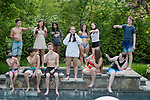 Addison's Bat Mitzvah<br /> at Temple Israel in Westport, and<br /> her back yard pool party with food trucks.