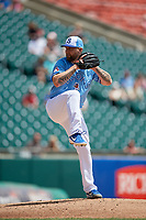 Buffalo Bisons relief pitcher Ryan Feierabend (32) during an International League game against the Lehigh Valley IronPigs on June 9, 2019 at Sahlen Field in Buffalo, New York.  Lehigh Valley defeated Buffalo 7-6 in 11 innings.  (Mike Janes/Four Seam Images)
