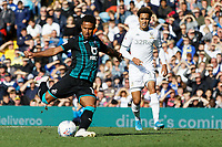 LEEDS, ENGLAND - AUGUST 31: Wayne Routledge of Swansea City (L) scores a goal during the Sky Bet Championship match between Leeds United and Swansea City at Elland Road on August 31, 2019 in Leeds, England. (Photo by Athena Pictures/Getty Images)