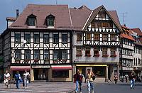 Deutschland, Schmalkalden in Thüringen, Fachwerkhäuser