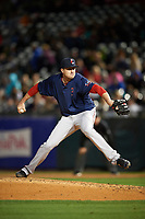 Pawtucket Red Sox relief pitcher Carson Smith (22) during a game against the Buffalo Bisons on August 31, 2017 at Coca-Cola Field in Buffalo, New York.  Buffalo defeated Pawtucket 4-2.  (Mike Janes/Four Seam Images)