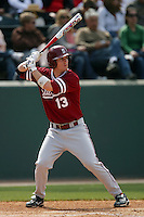 April 3 2010: Colin Walsh of the Stanford Cardinal during game against the UCLA Bruins at UCLA in Los Angeles,CA.  Photo by Larry Goren/Four Seam Images