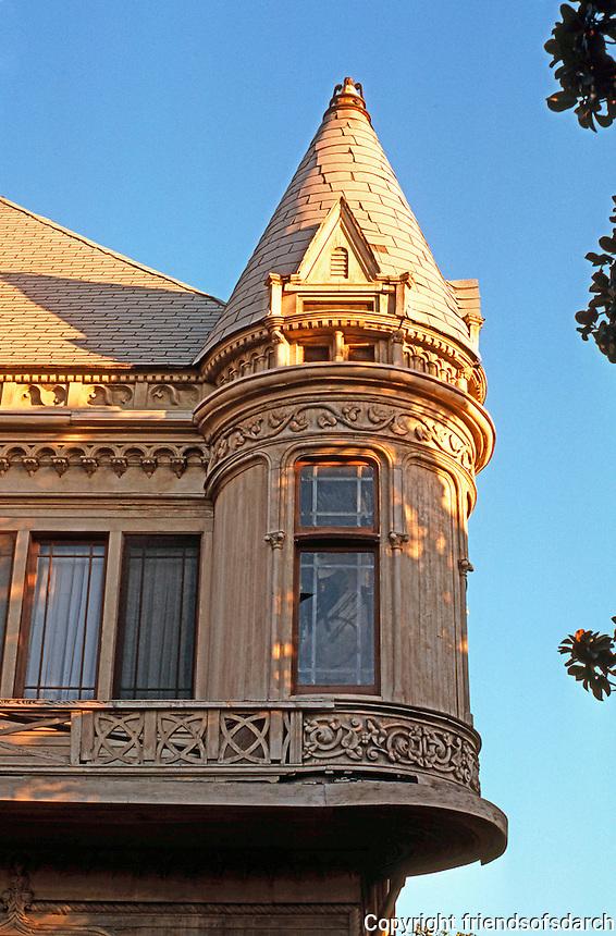 Los Angeles: S. Bonnie Brae. Detail. Victorian style. Photo '87.