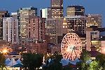 Ferris Wheel at Elitch Gardens Amusement Park, Downtown Denver,  Colorado. .  John offers private photo tours in Denver, Boulder and throughout Colorado. Year-round Colorado photo tours.