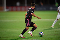 LAKE BUENA VISTA, FL - JULY 27: Christian Roldan #7 of the Seattle Sounders dribbles the ball during a game between Seattle Sounders FC and Los Angeles FC at ESPN Wide World of Sports on July 27, 2020 in Lake Buena Vista, Florida.
