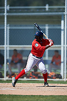 Boston Red Sox Josh Tobias (11) bats during a minor league Spring Training game against the Baltimore Orioles on March 16, 2017 at the Buck O'Neil Baseball Complex in Sarasota, Florida. (Mike Janes/Four Seam Images)