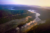 Early morning over Tennessee River Gorge and Prentice Cooper State Forest