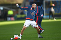 Jonjo Shelvey of Swansea warms up  before  the Emirates FA Cup 3rd Round between Oxford United v Swansea     played at Kassam Stadium  on 10th January 2016 in Oxford
