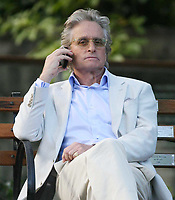 Michael Douglas on the set of Wall Street 2 10-7-09, Photo By John Barrett/PHOTOlink
