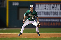 Charlotte 49ers third baseman Derek Gallello (41) on defense against the Georgia Bulldogs at BB&T Ballpark on March 8, 2016 in Charlotte, North Carolina. The 49ers defeated the Bulldogs 15-4. (Brian Westerholt/Four Seam Images)