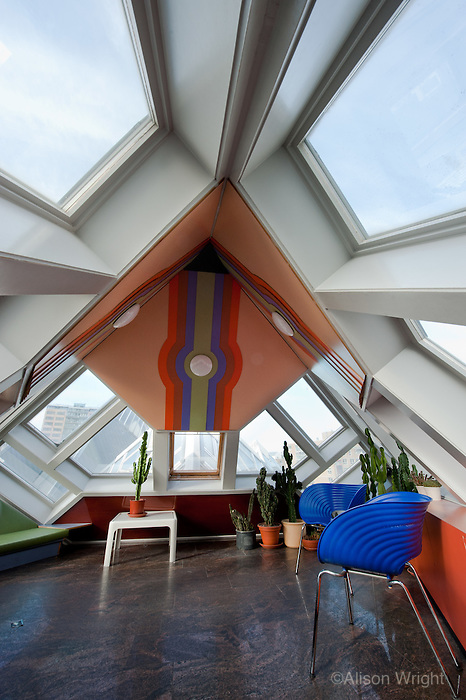 The Vantage Travel Cruise, MS Discovery II along the canals of the Netherlands. Cube House.