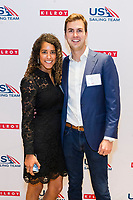 SAN FRANCISCO, CA - October 16 - Alexandra Stoelzle and Tanner Larsen attend Kilroy Realty / US Olympic Sailing Cocktail Reception 2019 on October 16th 2019 at Kilroy Innovation Center in San Francisco, CA (Photo - Andrew Caulfield for Drew Altizer Photography)