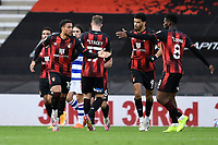Arnaut Danjuma of AFC Bournemouth left celebrates scoring to make the score 2-2- during AFC Bournemouth vs Reading, Sky Bet EFL Championship Football at the Vitality Stadium on 21st November 2020