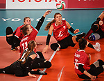 Heidi Peters and Jennifer Oakes, Tokyo 2020 - Sitting Volleyball // Volleyball Assis.<br /> Canada takes on Brazil in the sitting volleyball bronze medal match // Le Canada affronte le Brésil dans le match pour la médaille de bronze en volleyball assis. 09/4/2021.