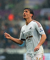 Jack Cork of Swansea City during the Barclays Premier League match between Swansea City and Liverpool at the Liberty Stadium, Swansea on Sunday May 1st 2016